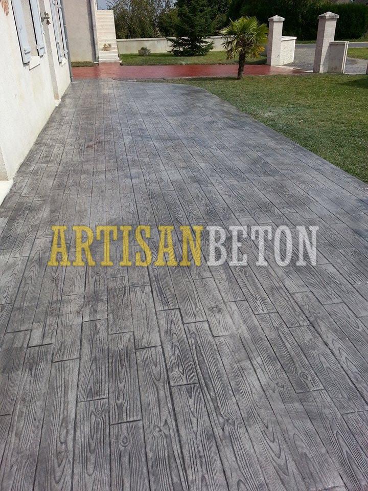 projets en b ton imprim motifs et photos artisan beton. Black Bedroom Furniture Sets. Home Design Ideas