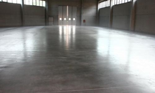 Sol industriel beton lissé